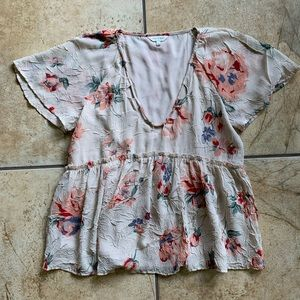 Lucky Brand Pink Floral top